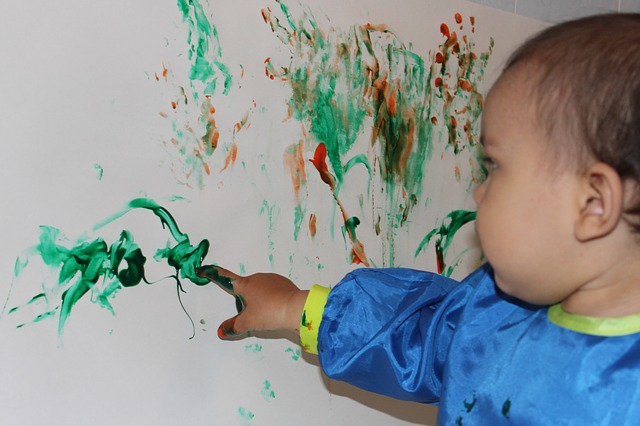 malování prstem