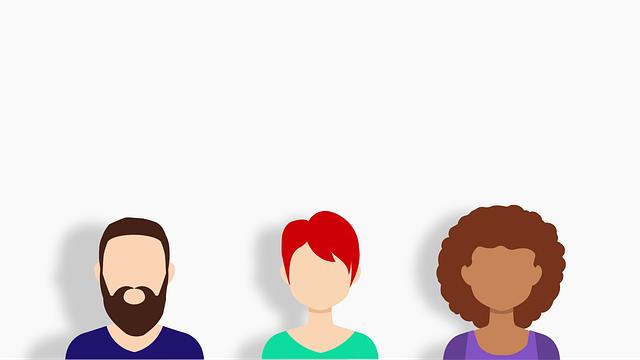 kreslené postavičky lidí na bílém podkladu