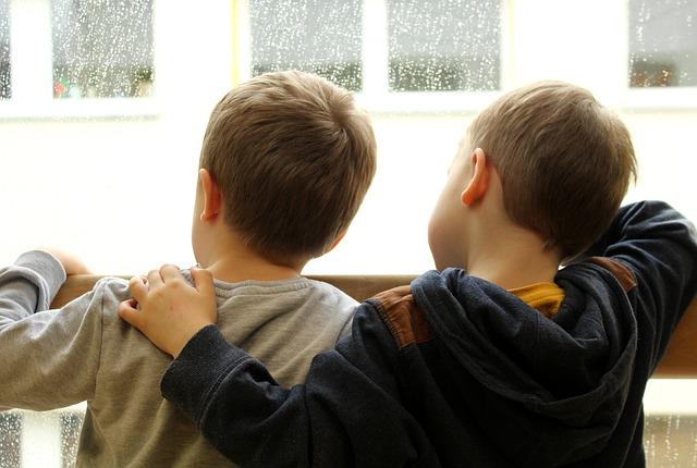 děti a déšť